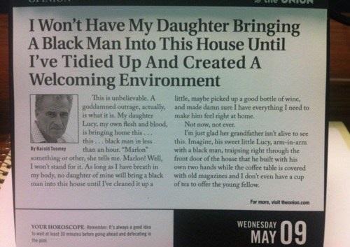 Bjuda hem en svart man? Aldrig!