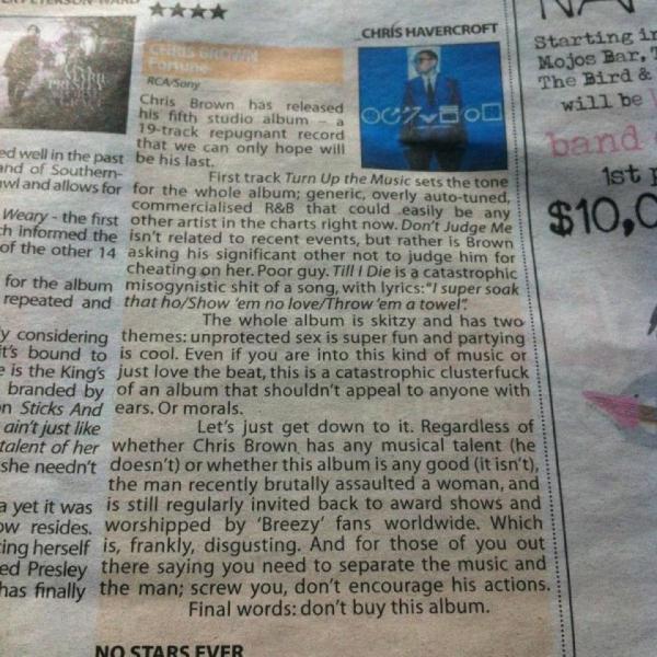 Chris Brown-recension