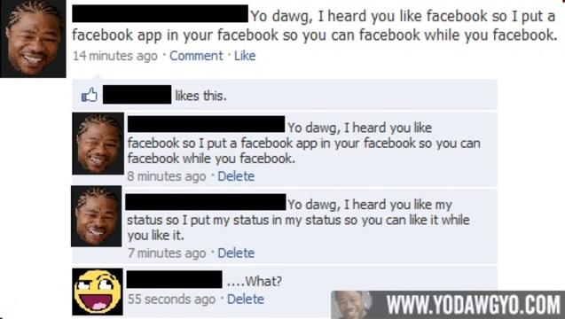 Facebook while you Facebook
