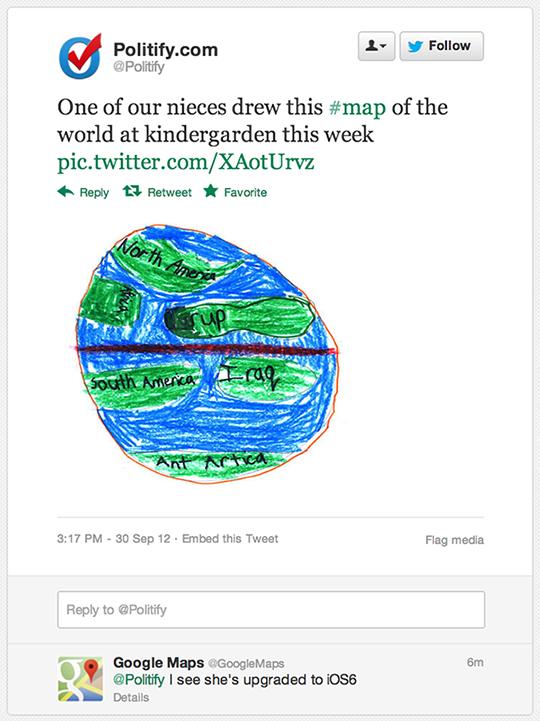 Google om Apple maps