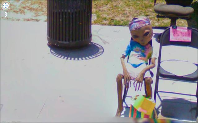 Google Street View - Alien på stan