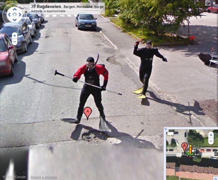 Google Street View - Fel ställe att dyka på?