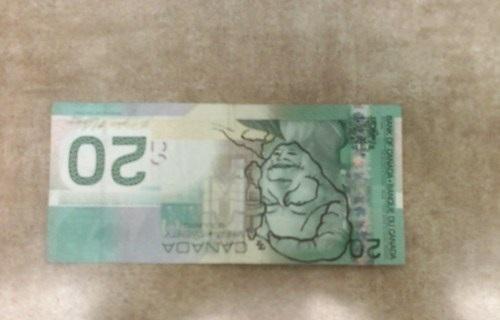 Hemligt budskap på Kanadas 20-dollarssedlar!