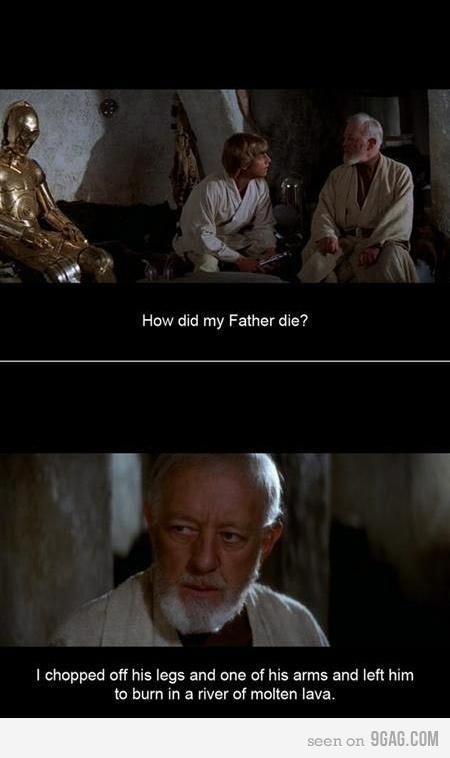 Hur dog Lukes pappa?