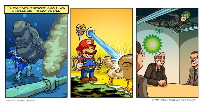 Hur spelkaraktärer hjälpte till vid BP's oljeläckag