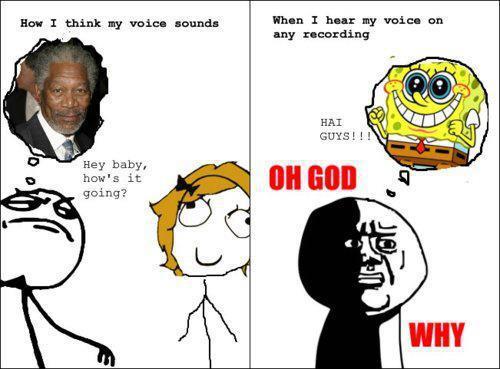 Hur vi uppfattar vår egna röst