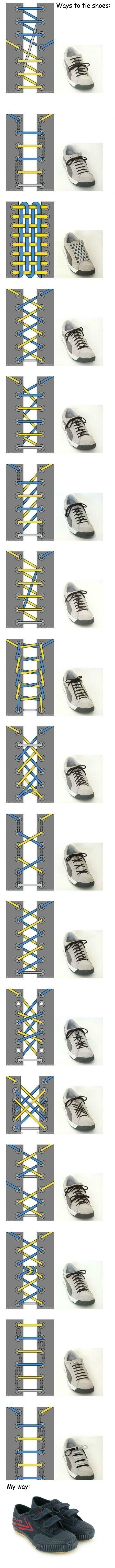 Kreativa sätt att knyta skor
