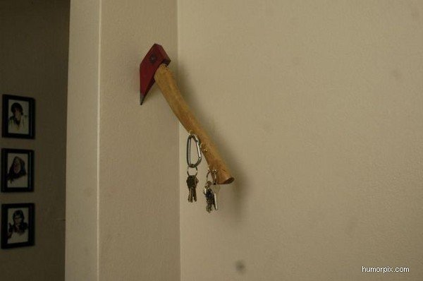 Manlig nyckelhängare