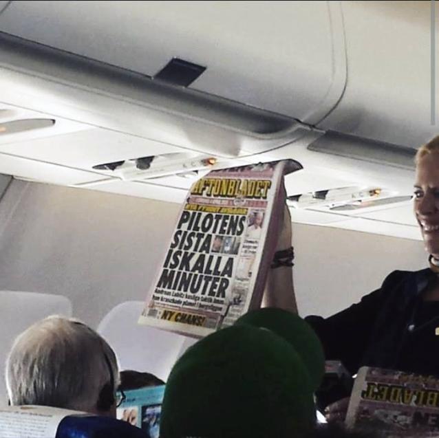 Passande på ett flygplan!