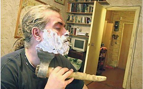 Riktiga män rakar sig så här