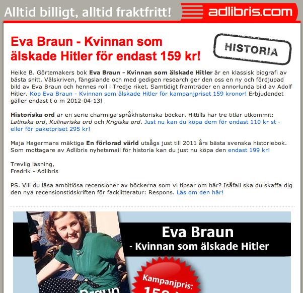 Så billig var Eva Braun