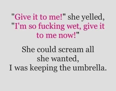 Snälla, jag e så våt!