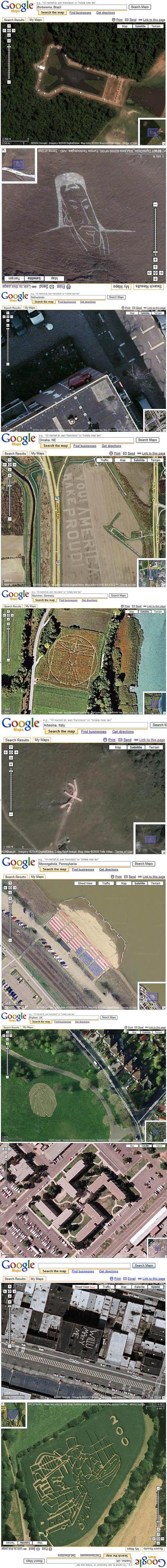 Underligheter på Google Maps