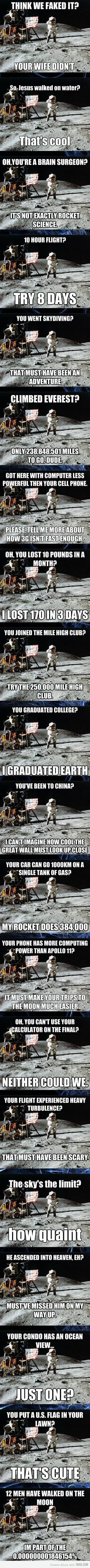 Unimpressed Astronaut!