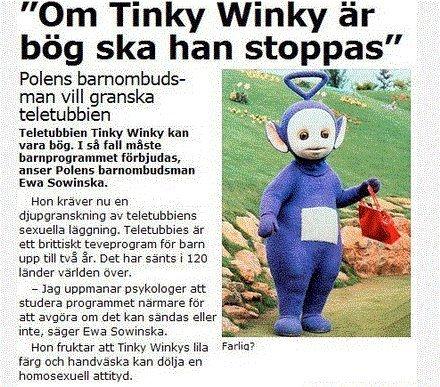 Uppfattningen av Tinky Winky