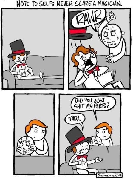 Skräm aldrig en trollkarl