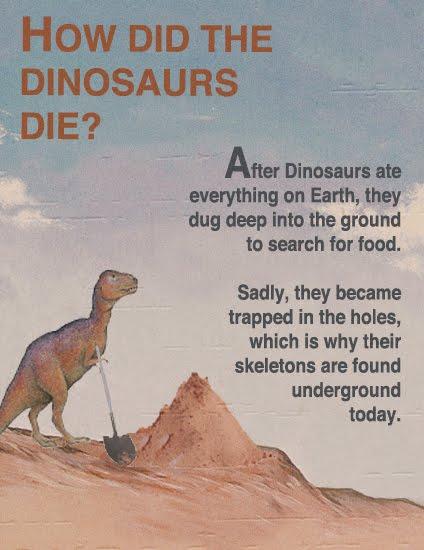 Varför dinosaurierna dog ut!