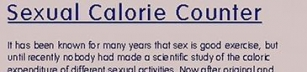 Hur många kalorier bränner man när man har sex?