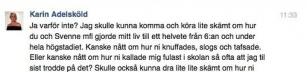 Karin Adelsköld rockar!