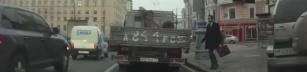När man går över gatan i Ryssland