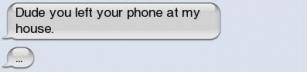 När man hittar en borttappad mobil