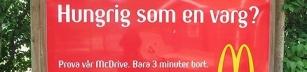 Osmaklig reklamskylt vid Borås Djurpark?