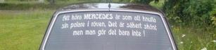 Att köra Mercedes..