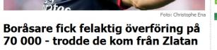 Skyll inte på Zlatan!