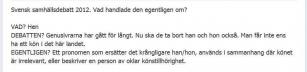 Sveriges debatter 2012
