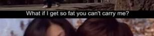 Tänk om jag blir fet?