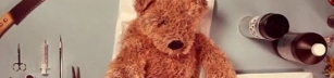 Teddybjörnen Fredriksson hos läkaren?