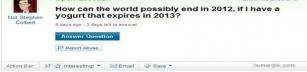 Varför världen inte kan gå under 2012